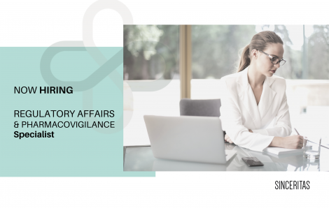 OPEN POSITION: Regulatory affairs and pharmacovigilance specialist