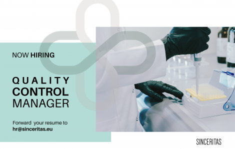 OPEN POSITION: Quality Control Manager