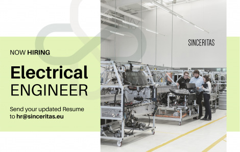 OPEN POSITION: Electrical Engineer