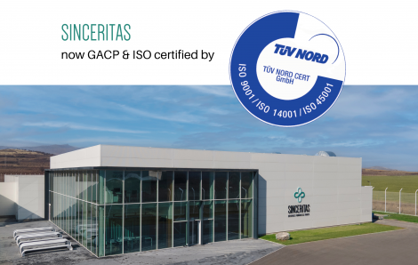 Sinceritas obtains GACP & ISO Certificates issued by TÜV Nord GmbH