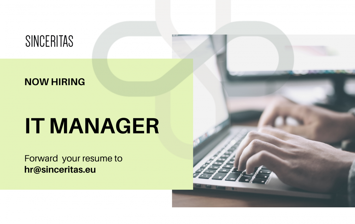 OPEN POSITION: IT Manager