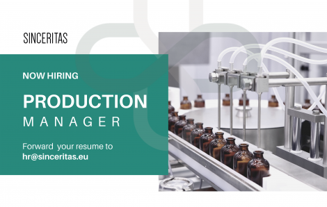 OPEN POSITION: Production Manager