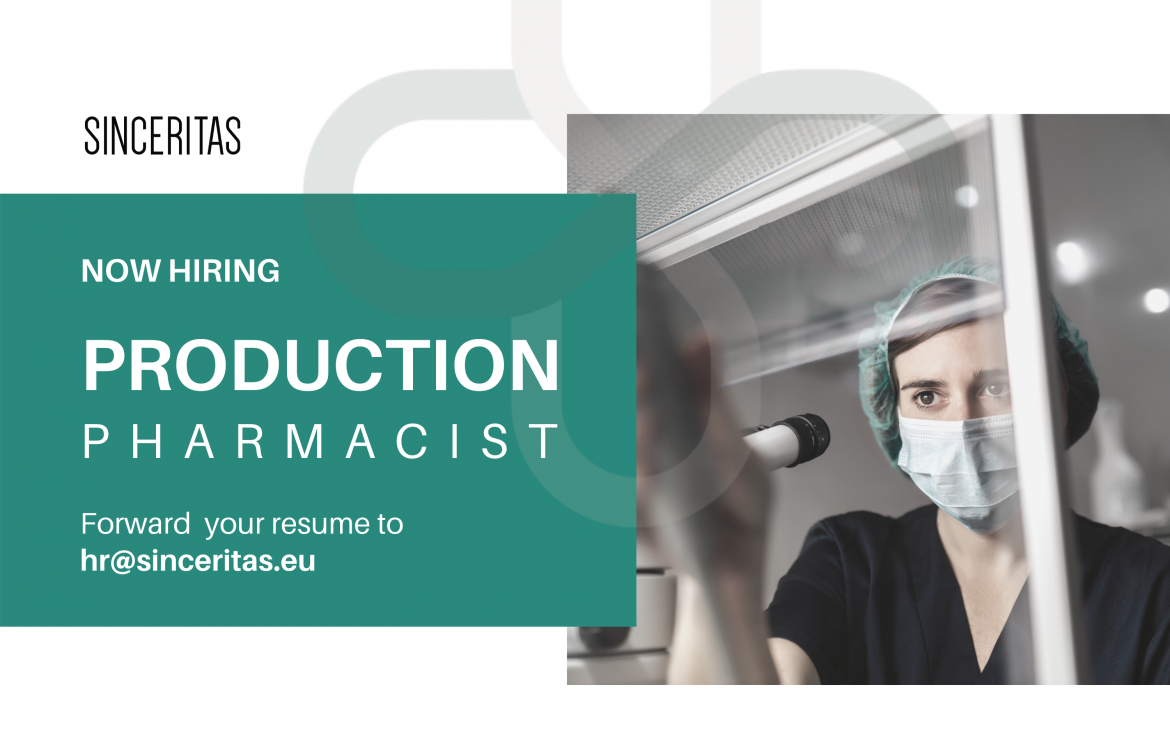 OPEN POSITION: Production Pharmacist